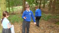 James and Anna exploring the woodland!